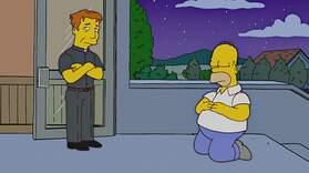Homer Meets Father Sean