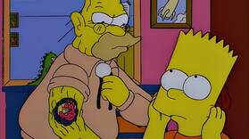 Raging Abe Simpson and His Grumbling Grandson in 'The Curse of the Flying Hellfish'