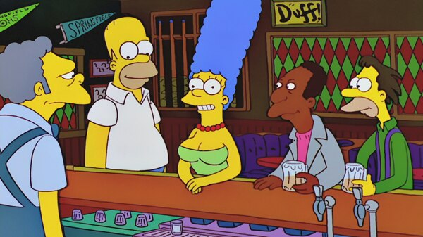 The simpsons marge gets breast implants