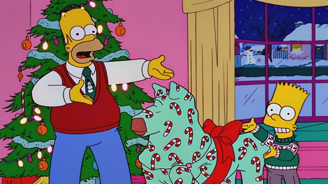 The Simpsons Christmas Episodes.Christmas Eve