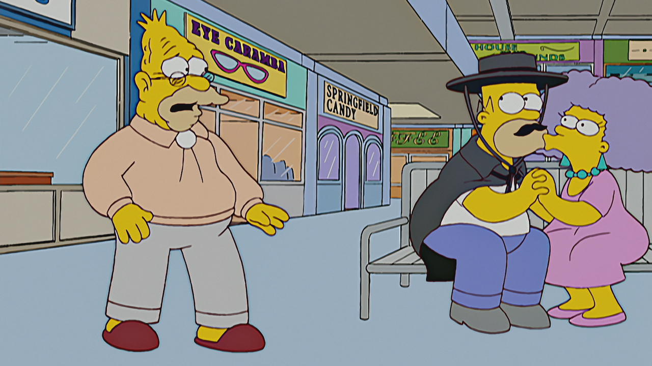 Grampa and Selma Kiss | Simpsons World on FXX