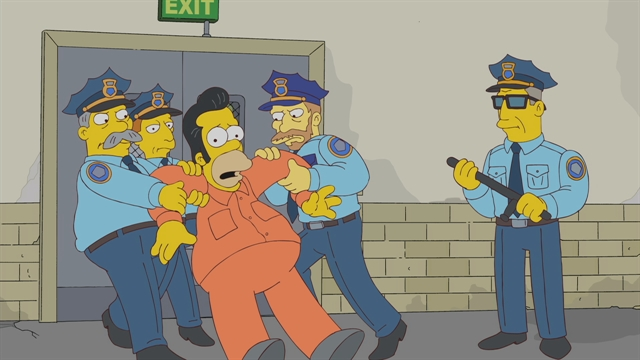 Homers Prison Beating Season 22 Episode 9 Simpsons World On Fxx