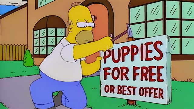 puppies for free season 6 episode 20 simpsons world on fxx