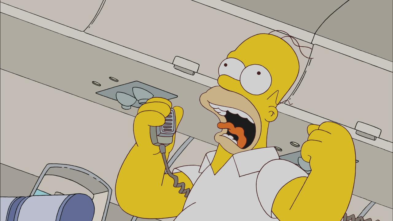 Homer On a Plane | season 23 episode 10 | Simpsons World on FXX
