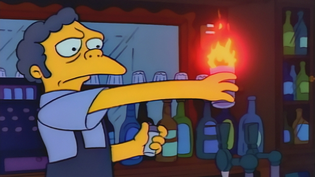 Image result for flaming moe