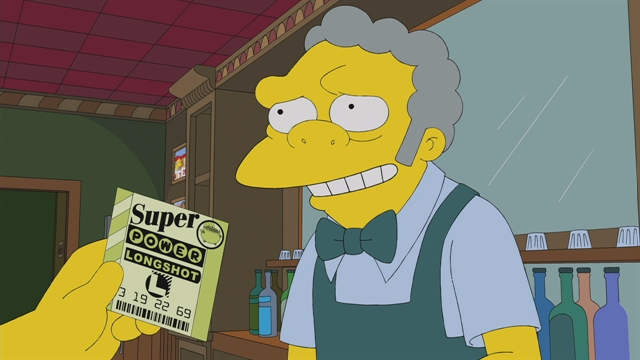 Homer Wins the Lottery