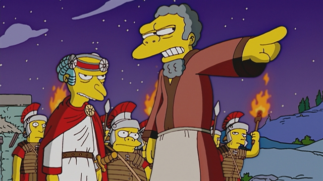 The Simpsons Christmas Episodes.Manger Danger