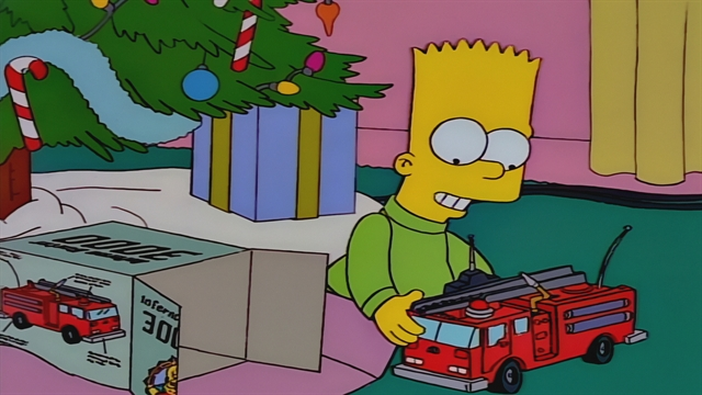 Christmas Simpsons.Christmas Tree Flambe