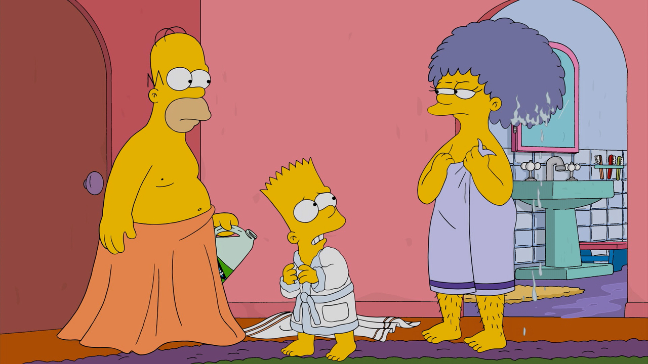 Homer catches and strangles bart for fucking his mother